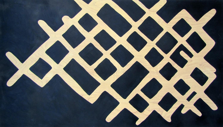 "Aerial _ Tempera on Birch Panel _ 24""x44"" _ 2013"