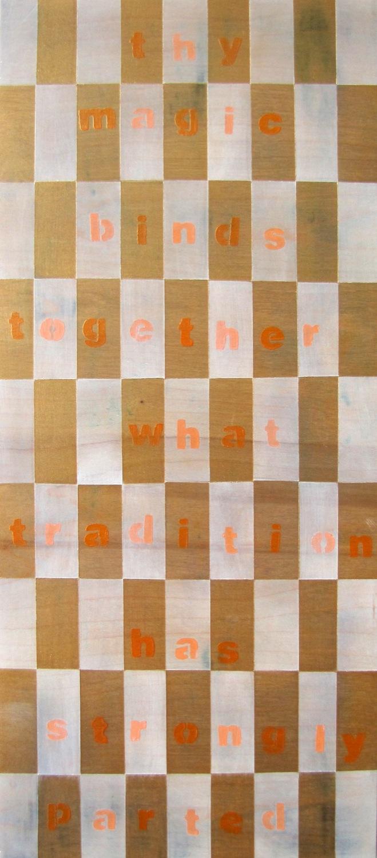 "Reconciliation _ Tempera on Birch Panel _ 24""x18"" _ 2013"