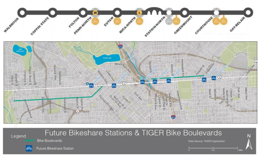"""Parallel"" bike facilities, blocks away."
