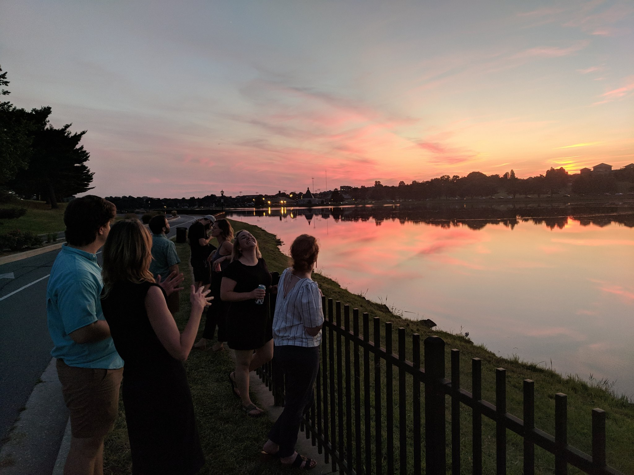 Sunset at Lake Montebello