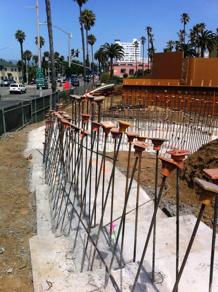 Rebar forms the framework for Observation Hill pathways and water feature