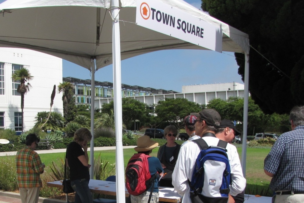 Site exploration included Town Square in front of City Hall