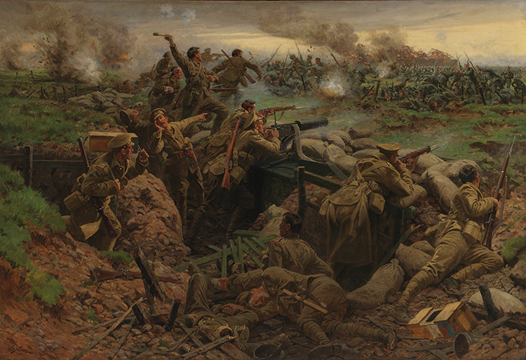 Site 8: William Barnes Wollen, Battle of Frezenberg, 1917. PPCLI Museums and Archives, Calgary.