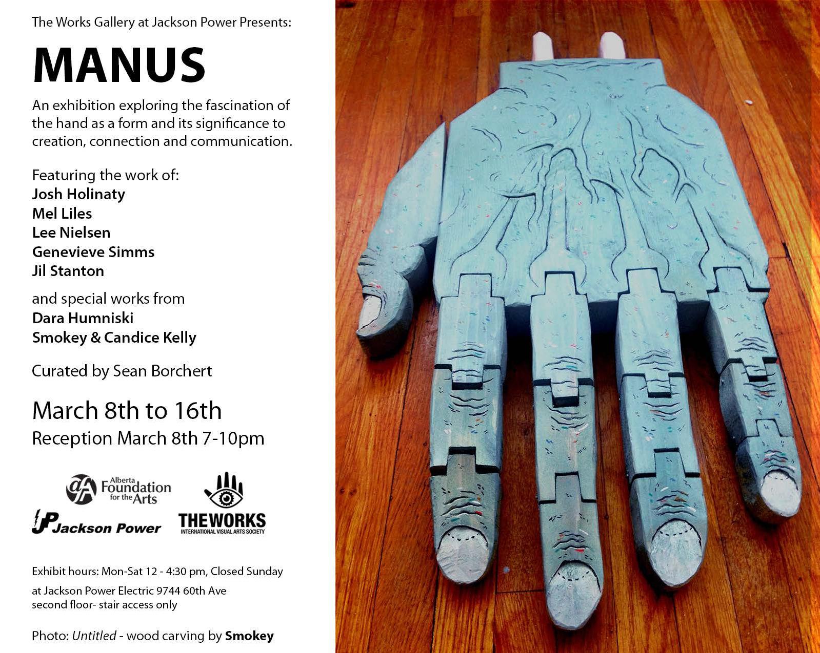 Manus, Curated by Sean Borchert (2013)