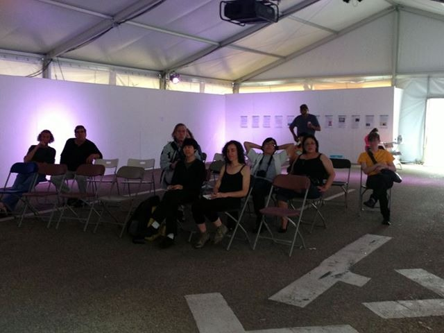 Victoria Stanton's Group Listening Session, part of the No Rhyme or Reason show curated by Terrance Houle!