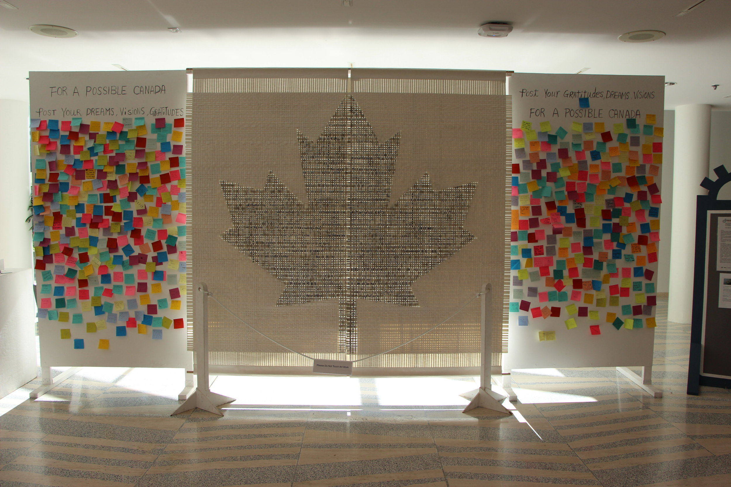 """""""A Possible Canada"""" by Amy Loewan, displayed in Edmonton City Hall during The Works 2017"""