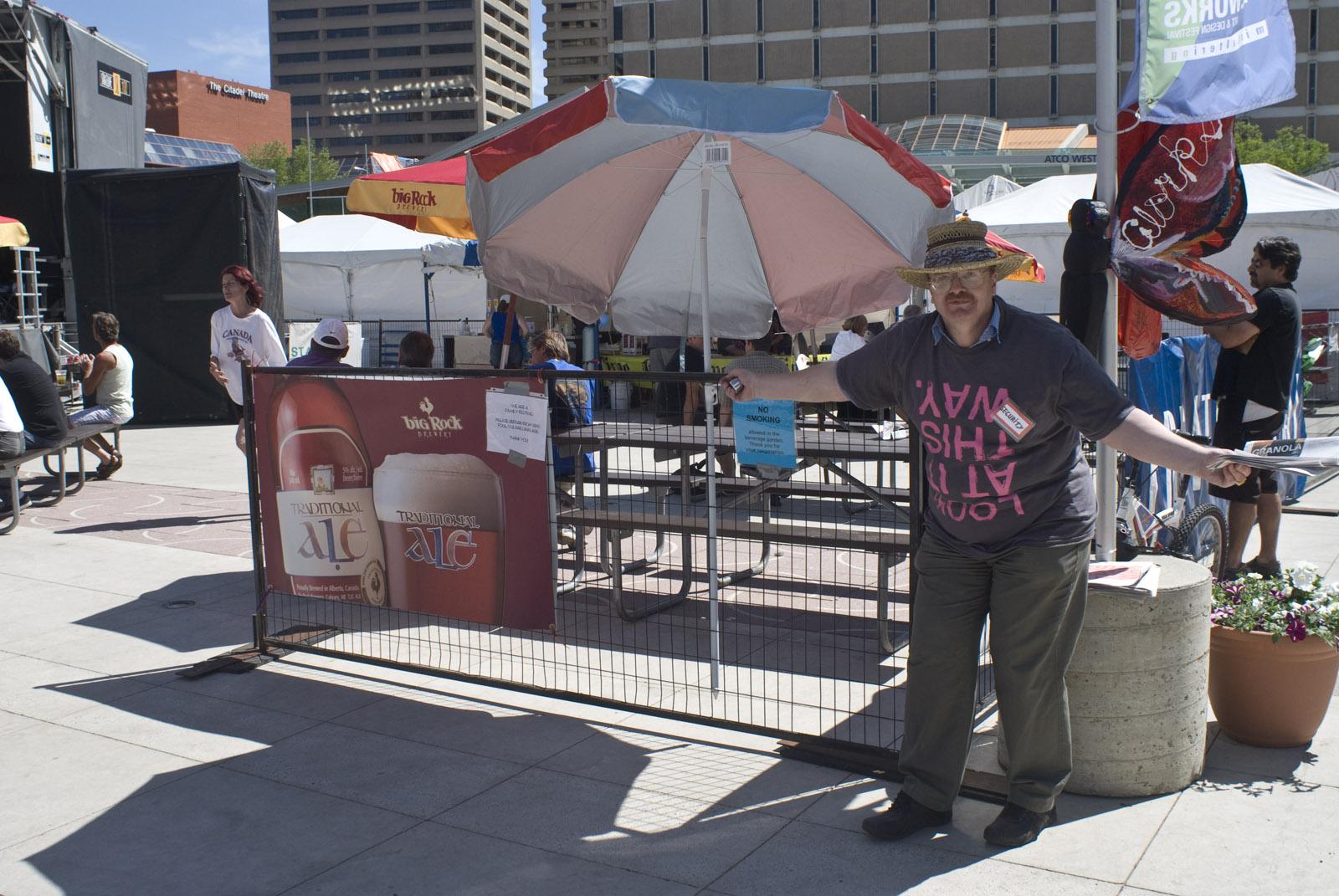 Gate crew volunteer, 2010.