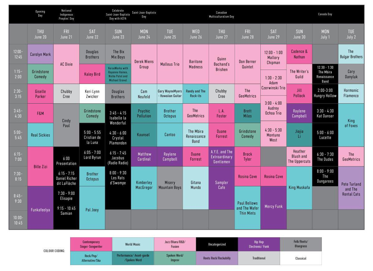 The Works Street Stage Schedule