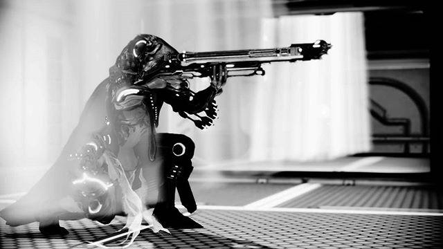 Ivara, my favorite #warframe . . . . . . . . . #warframepc #videogames #gaming #podcast #blackandwhite
