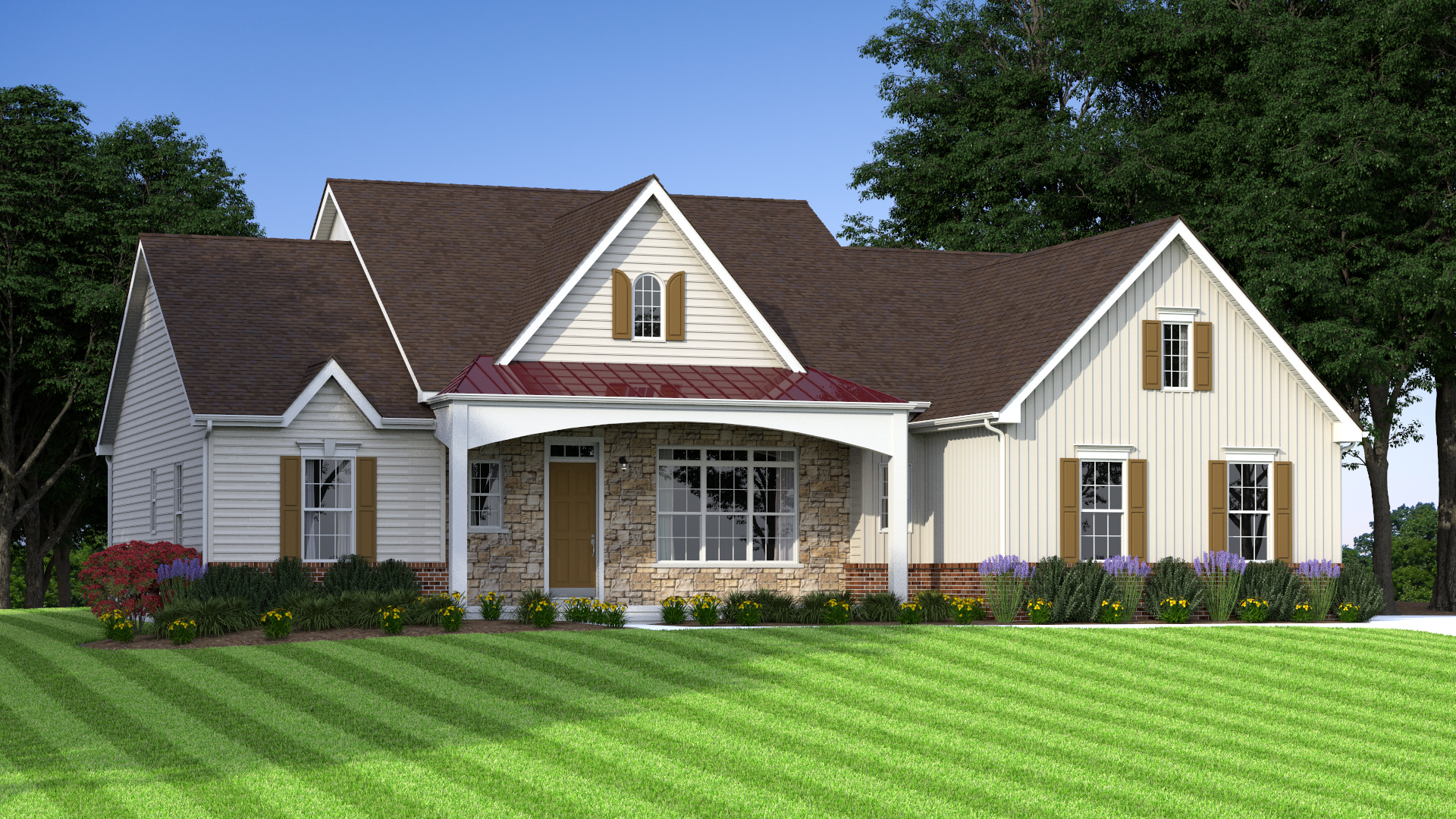 The Jefferson Grand  2,700 sf / 3 br / 2 ba / 2 car garage Starting at $394,990