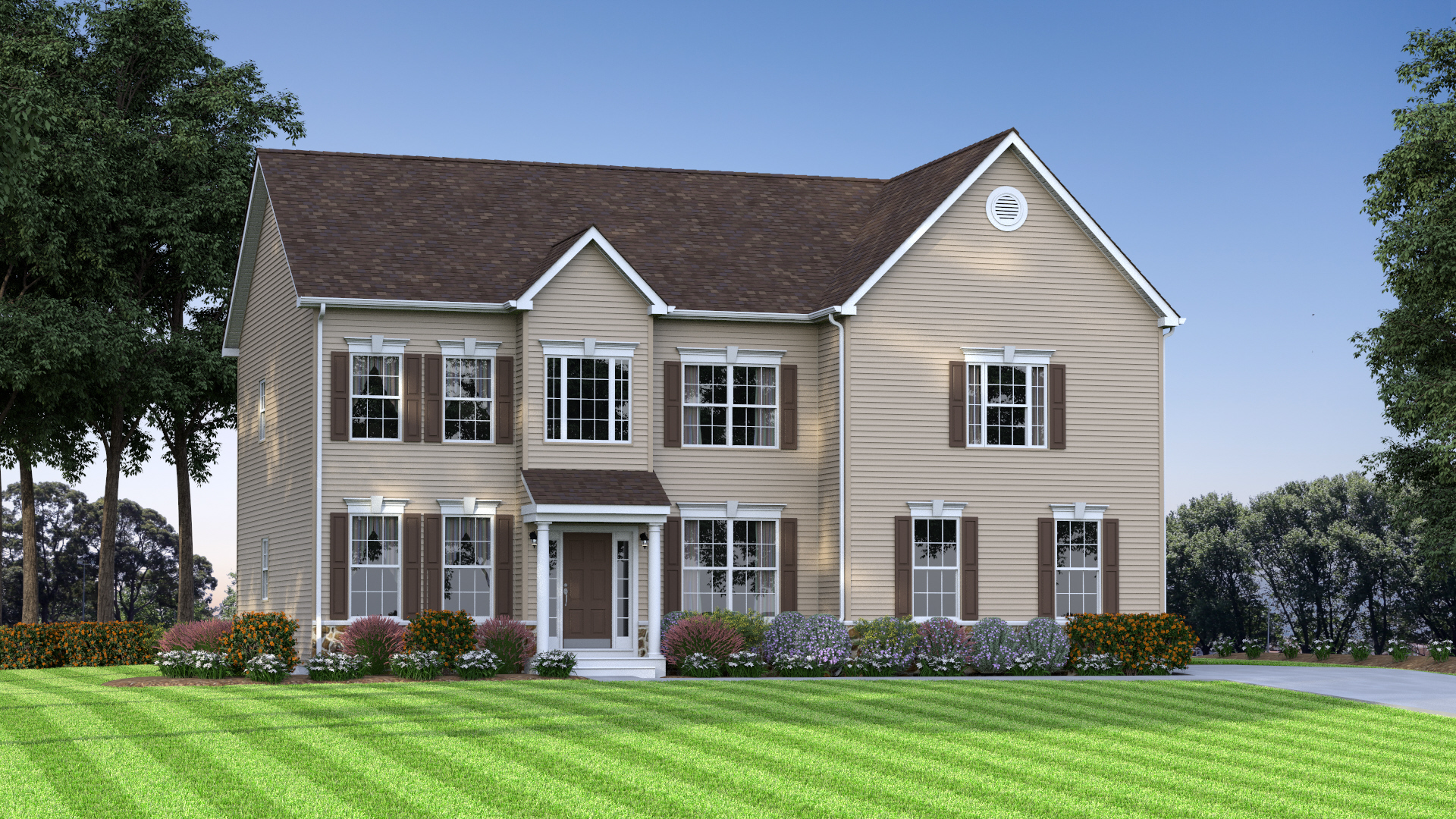 The Charleston  2,700 sf / 4 br / 2.5 ba / 2 car garage Starting at $319,990