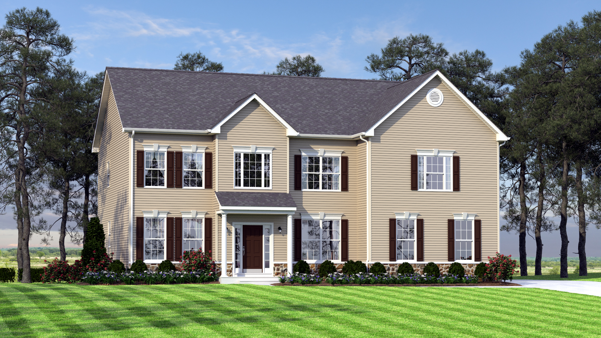 The Charleston Grand   3,000 sf / 4 br / 2.5 ba / 2 car garage  Starting at $328,990