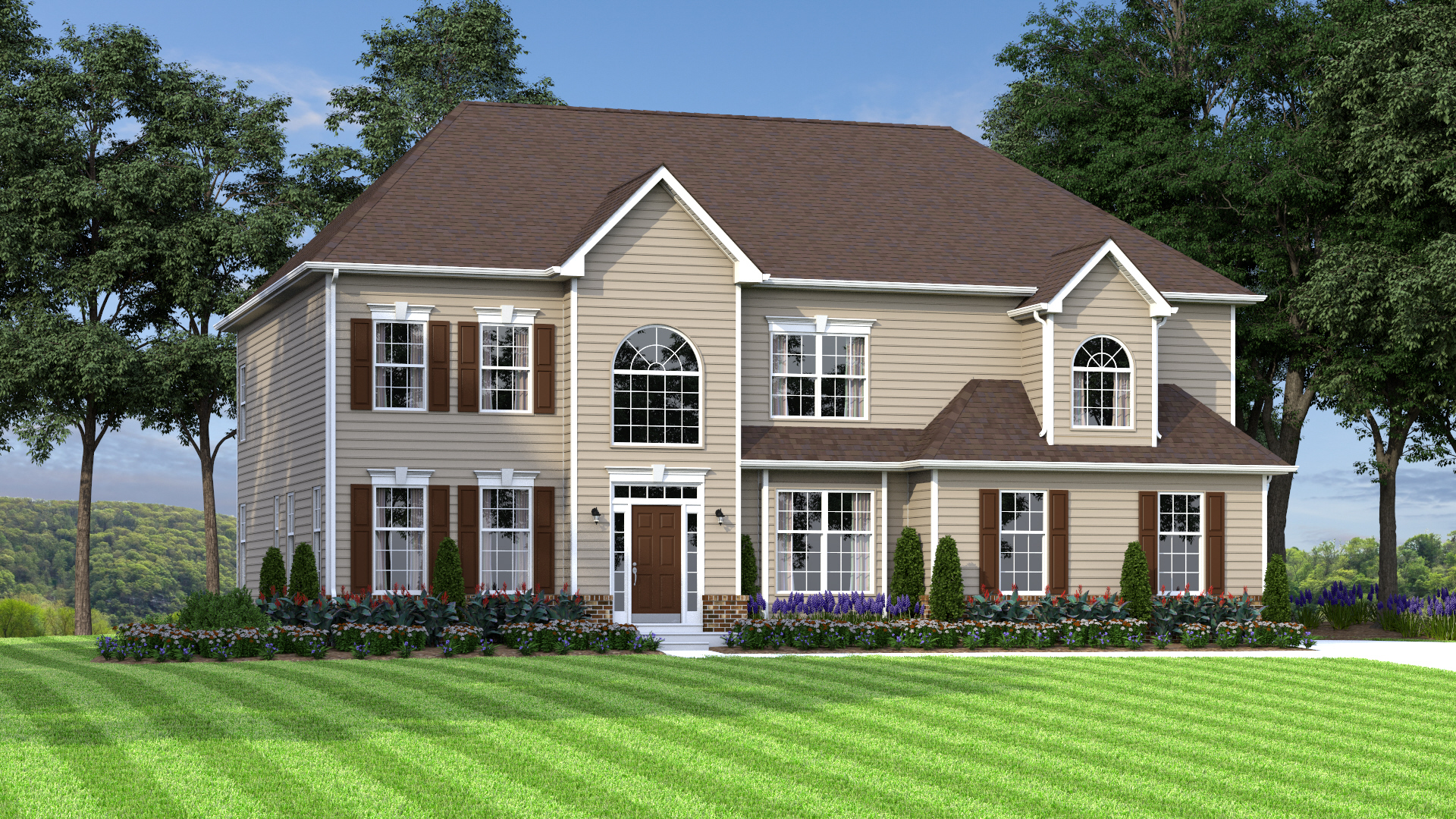 The Gladwyne  3,500 sf / 4 br / 2.5 ba / 2 car garage Starting at $351,990