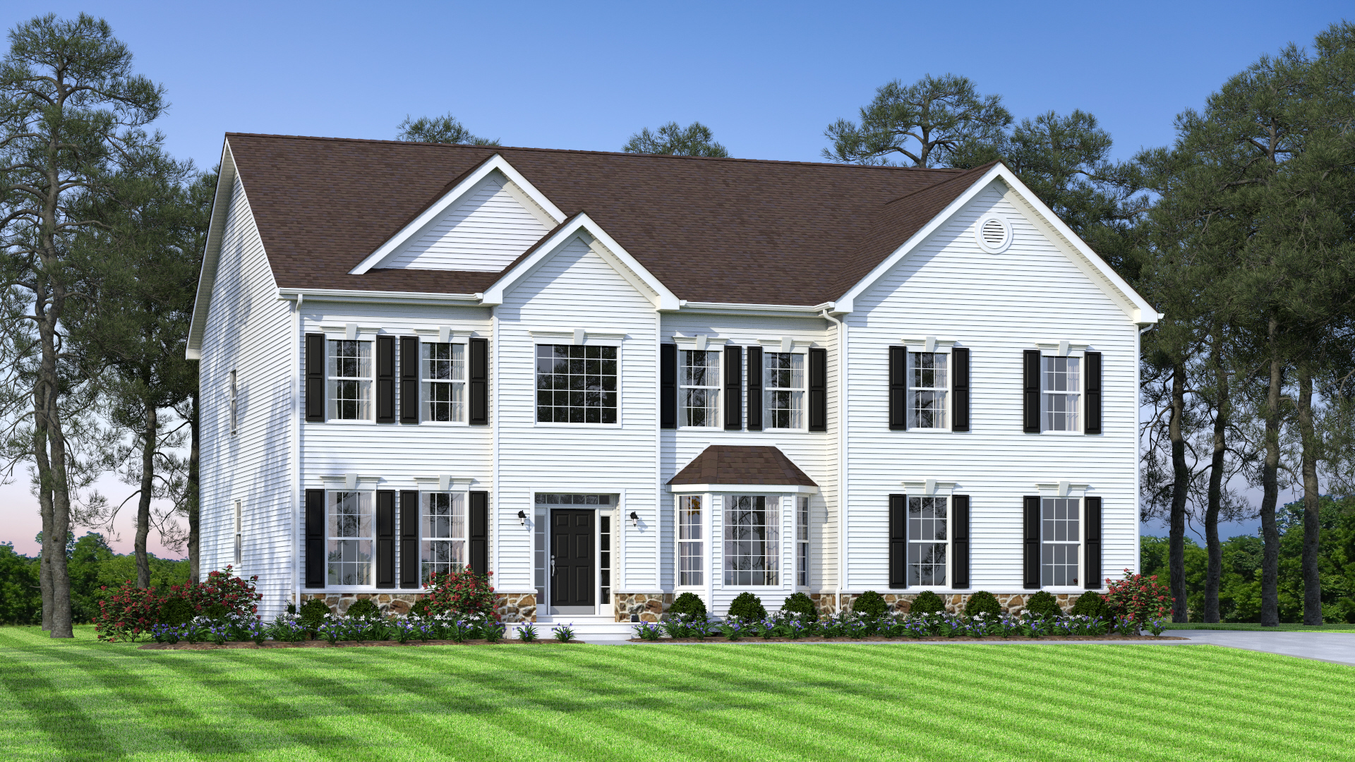 The Brandywine  3,700 sf / 4 br / 2.5 ba / 2 car garage Starting at $356,990