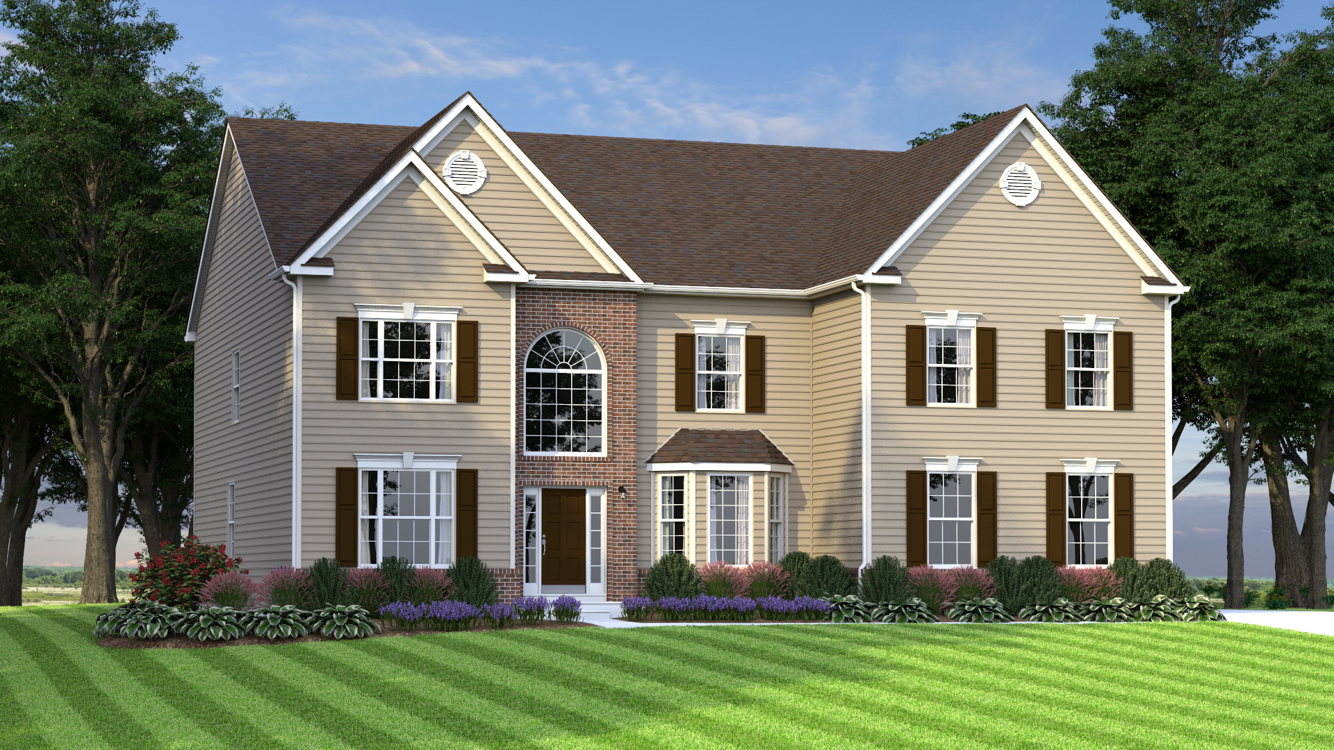 The Gatsby  4,000 sf / 4 br / 3.5 ba / 2 car garage Starting at $401,990