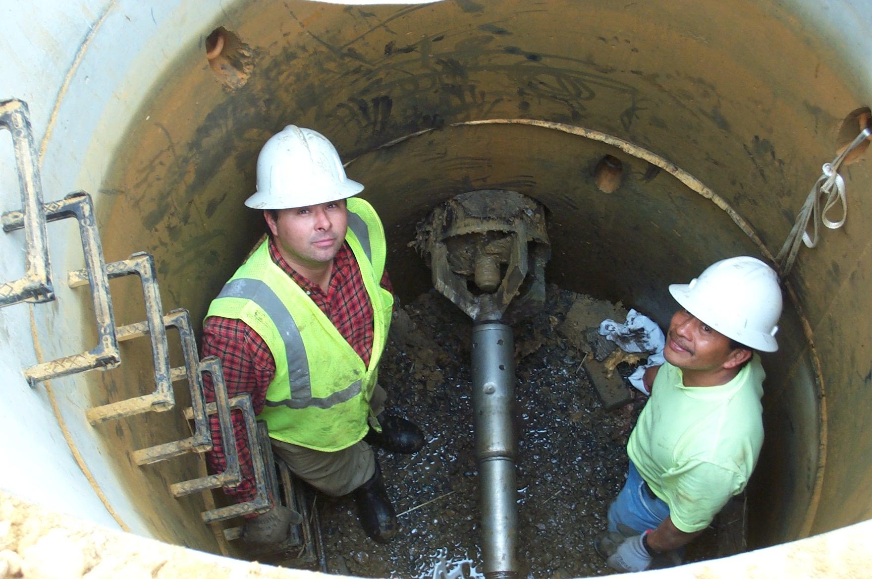 5' manhole pilot tube.JPG
