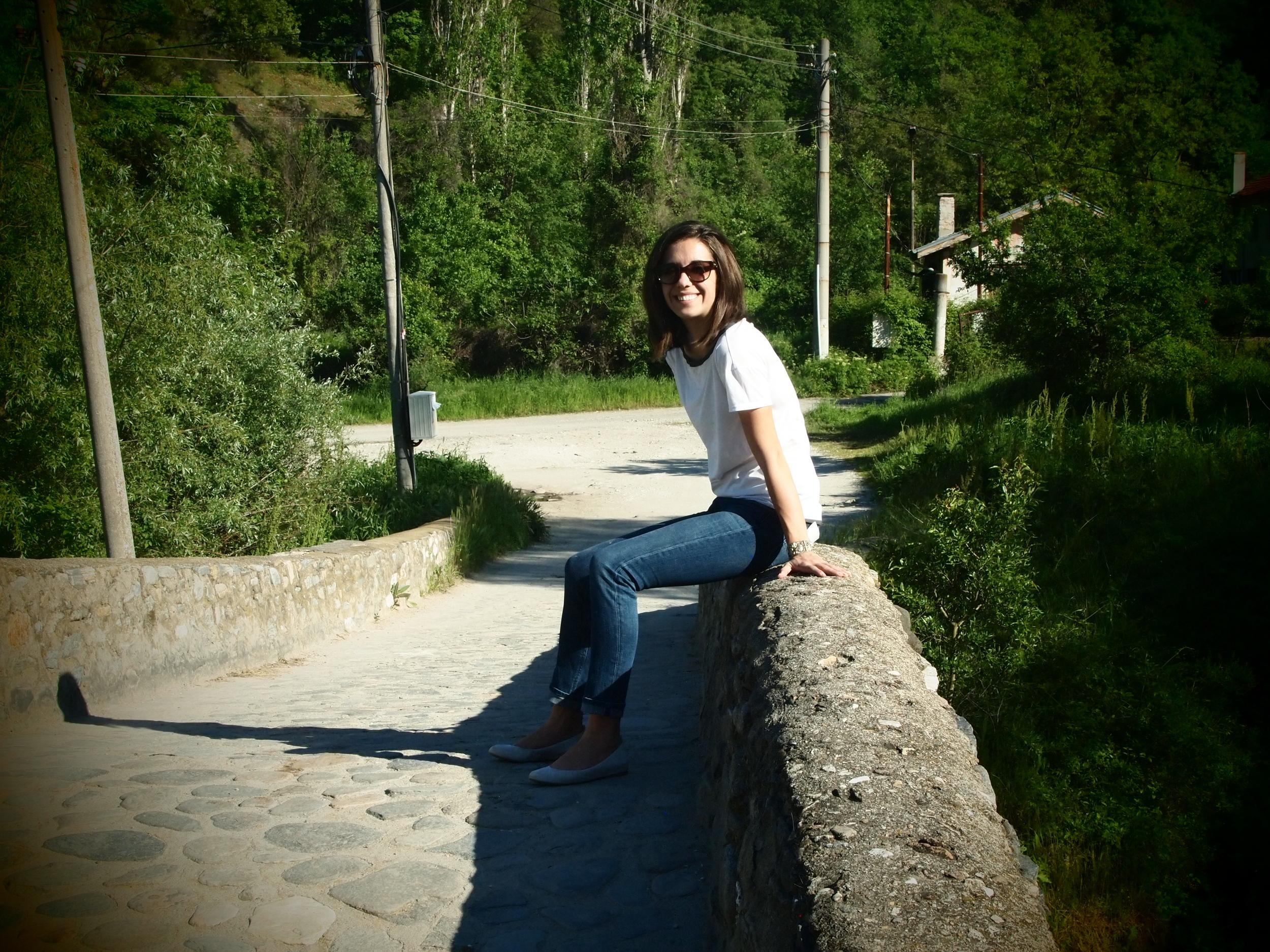 Sitting on a Roman bridge... still functioning!