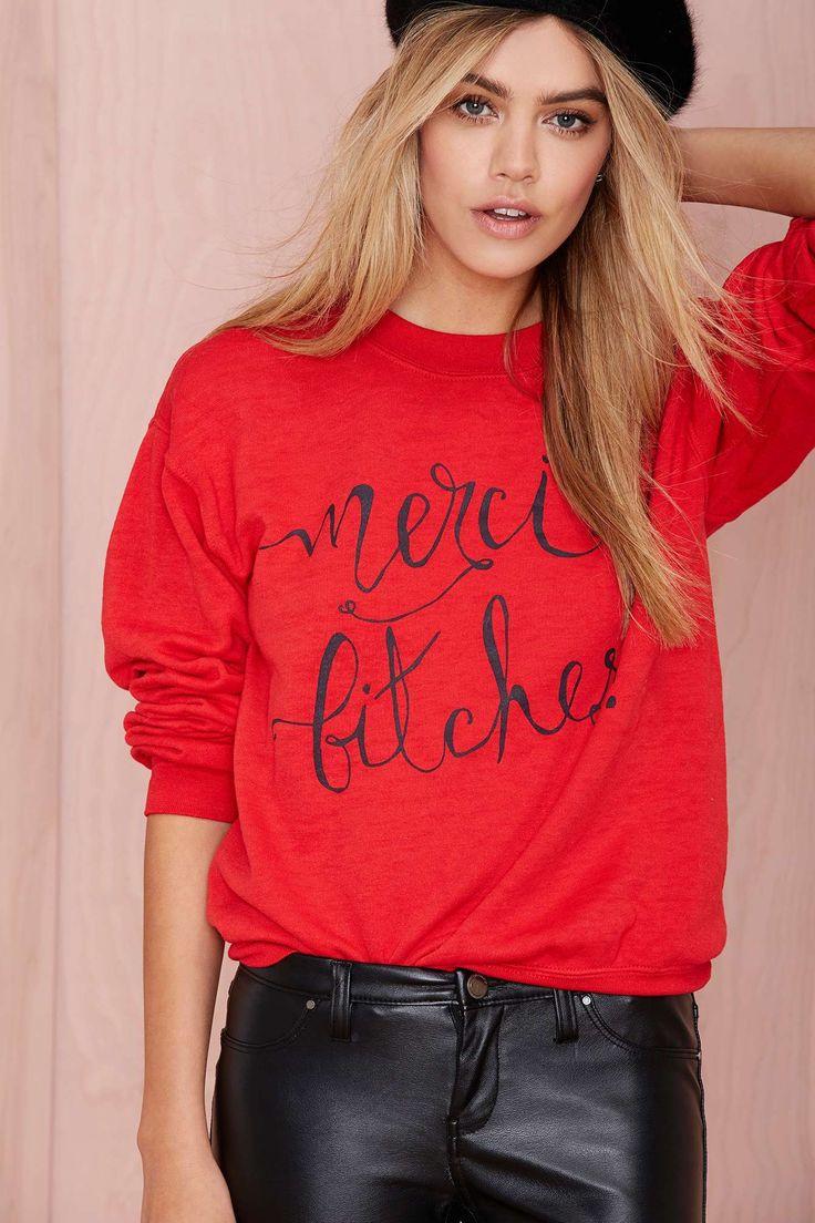 Merci Bitches Sweatshirt