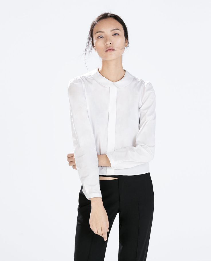 Zara Peter Pan Collar Blouse