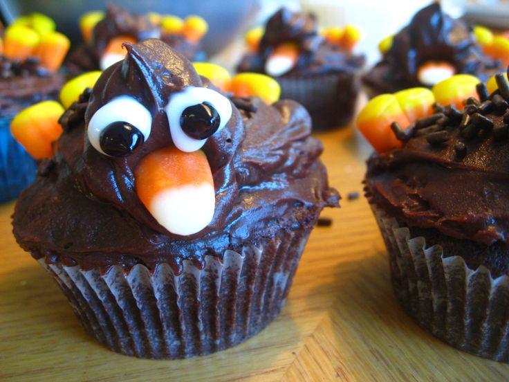 Thanksgiving Turkey Cupcake