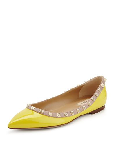 Valentino Rockstud Yellow Flat
