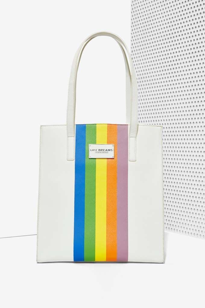 Like Dreams Rainbow Tote $68