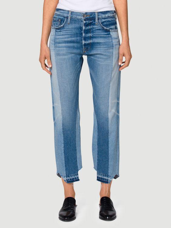 Frame $449  // Mini Trend : Two Tone Denim // Lady Gray