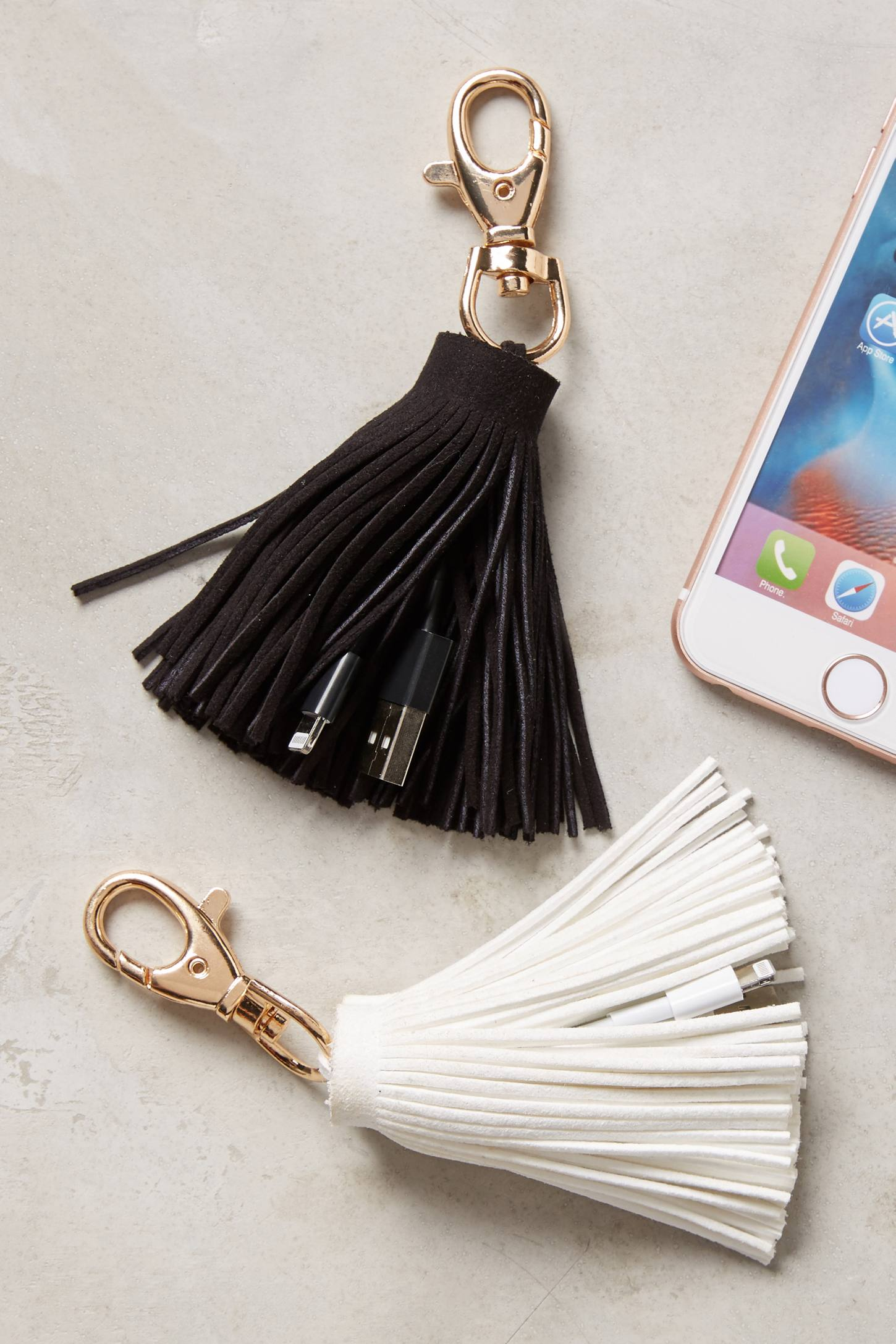Anthropologie USB Tassel Keychain, $30 each