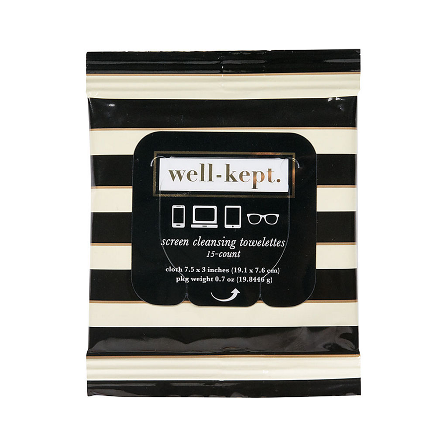Well-Kept Screen Cleansing Tech Wipes, $6