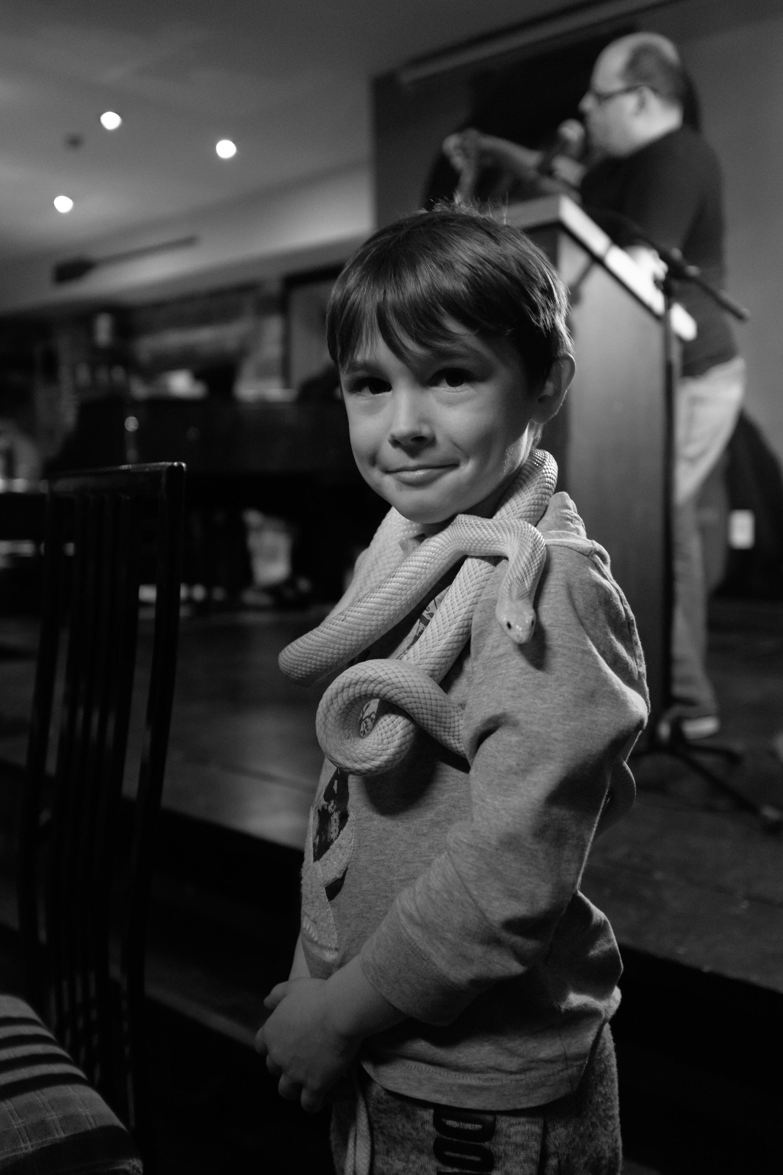 the boy at the snake presentation.jpg
