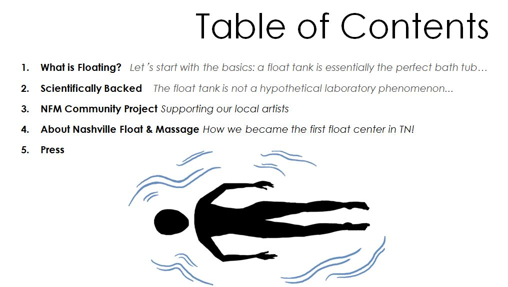 Click and out more about NFM and Floatation Tanks