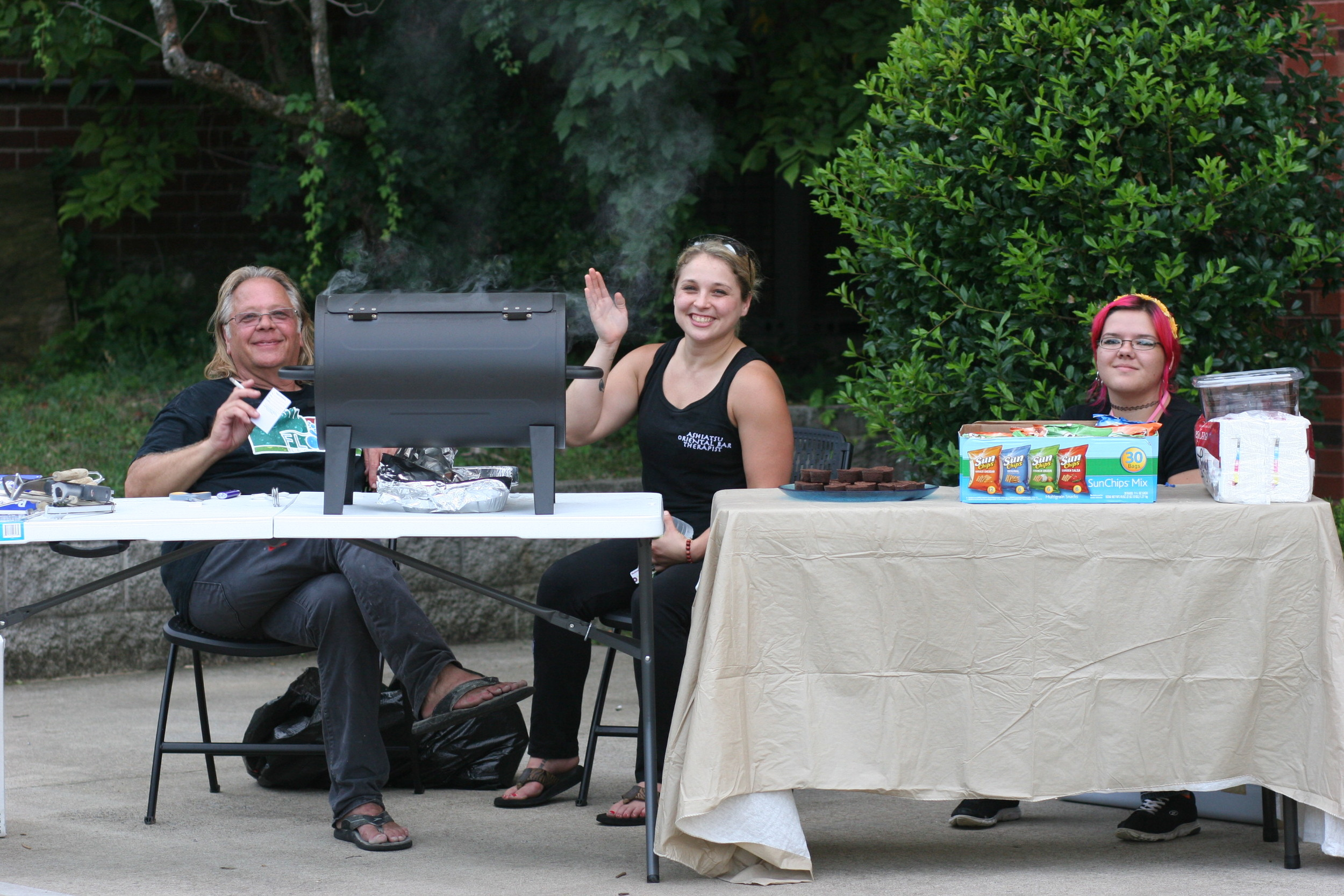 Mark, Melissa Bond, LMT of  007 Stress Therapy , and Jessyka.