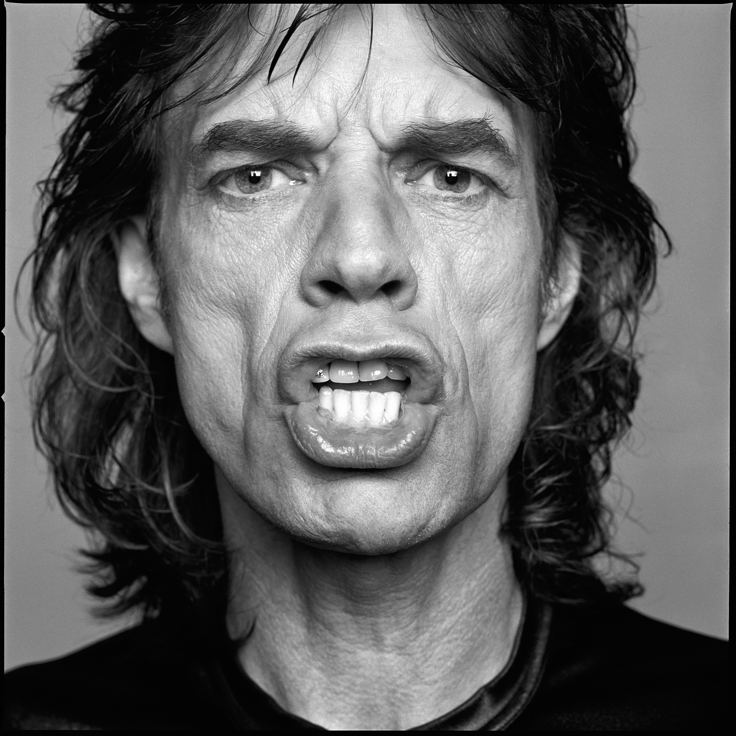 Mick Jagger photographed for an Esquire cover story on Mick's 50th Birthday by Patrik Andersson in his TriBeCa studio 1992