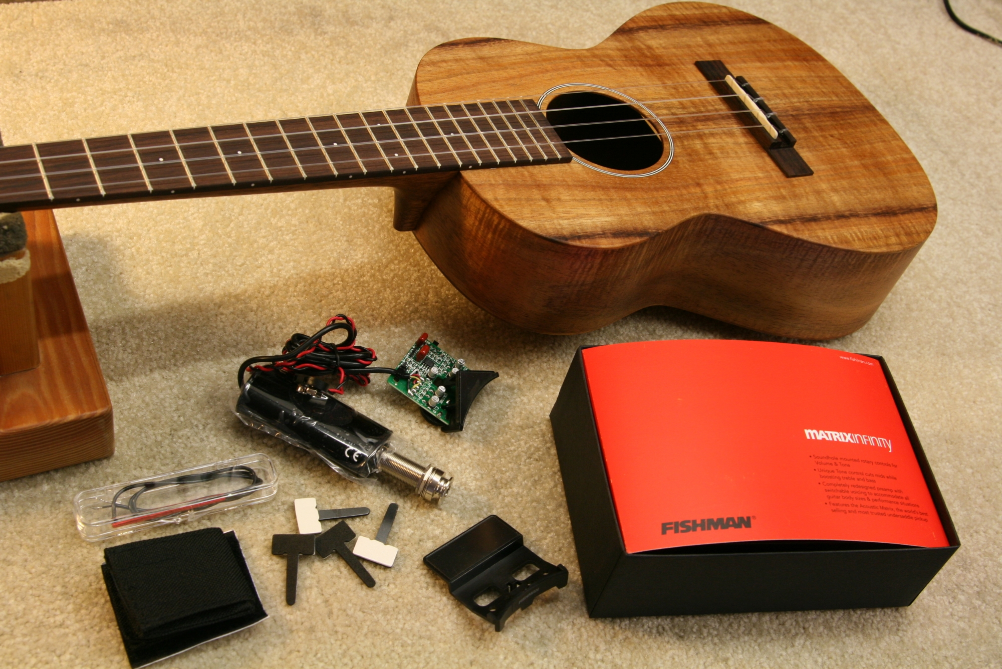 Fishman pickup installation on ukulele