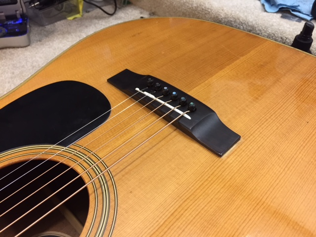 Ebony bridge acoustic repair