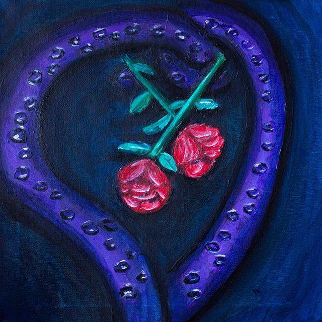 Octopus's Garden Roses  #art #painting #acrylicpainting #octopus #roses #flowers #sea #ocean #blue