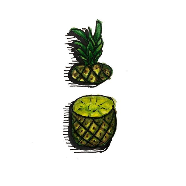 Pining for You  #art #drawing #ink #inkdrawing #pineapple #fruit