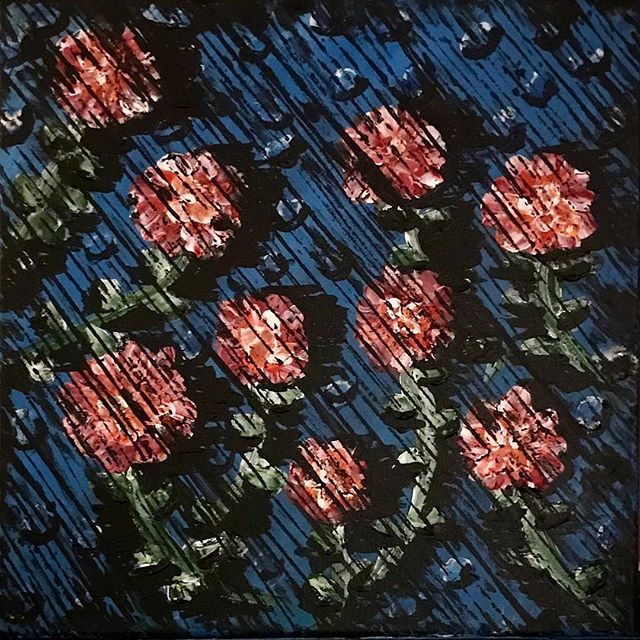 Flower shower 🌸🚿 #art #painting #flowers #artistsoninstagram #artist #modernart #blue