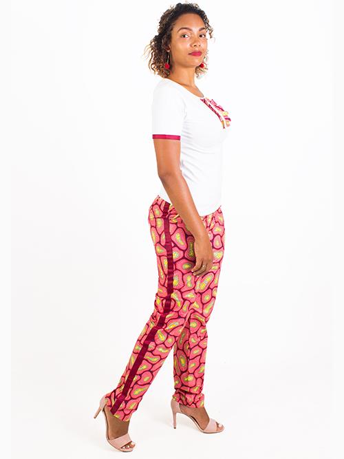 Calça estampado rosa  SALDO