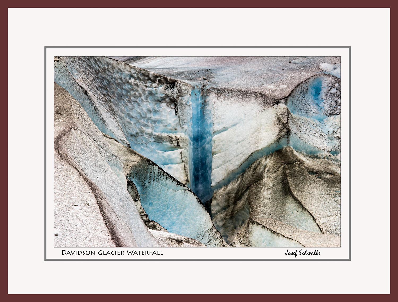 Davidson Glacier Waterfall