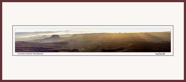 Canyon Sunset Panorama