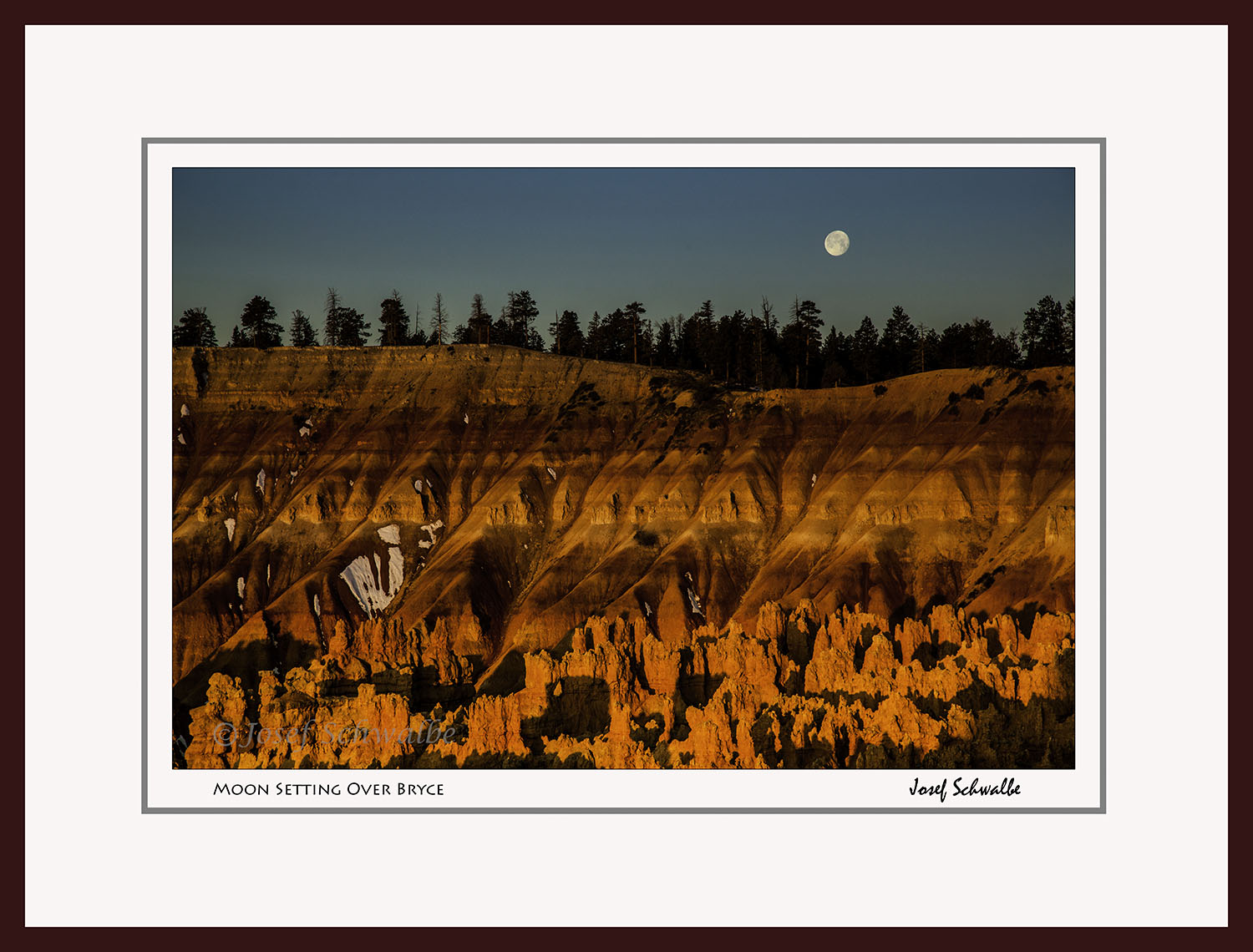 Moon Setting Over Bryce