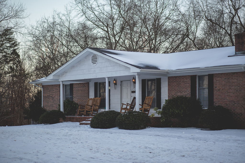 Our cute little house! 11 people live here, its much bigger than it looks on the outside!