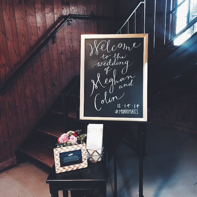 The welcome sign was done by the lovely Jessie Wiseman!