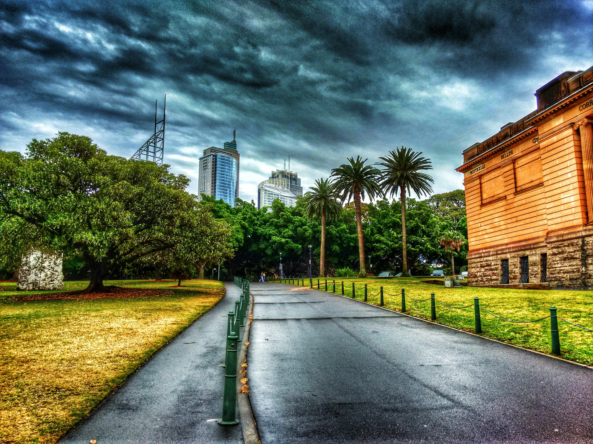 Walking up the NSW Art Gallery