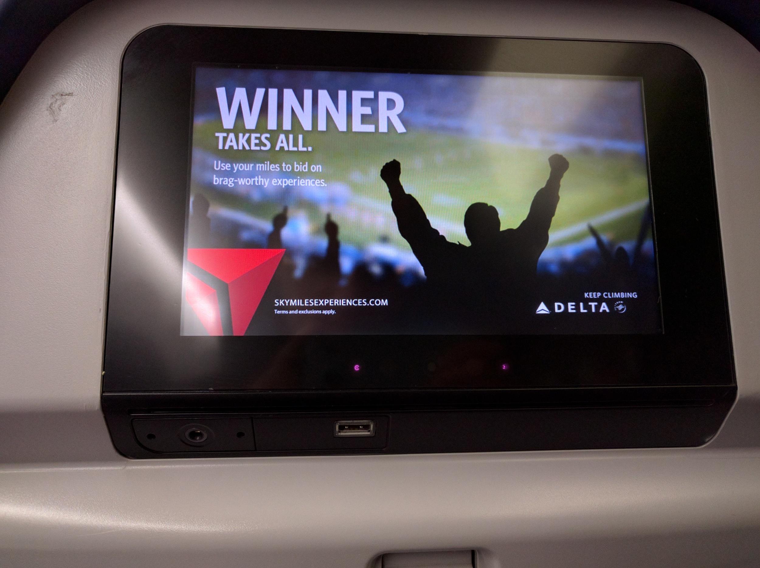 Delta 767-300 Entertainment System - Economy