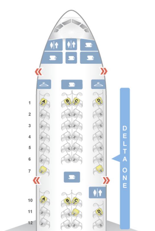 Delta Boeing 777-200LR Business Class