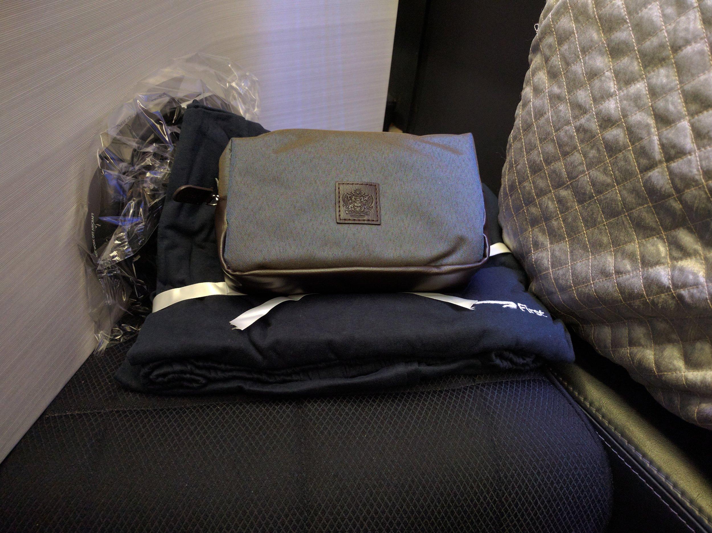 Amenity Kit and Sleepsuit
