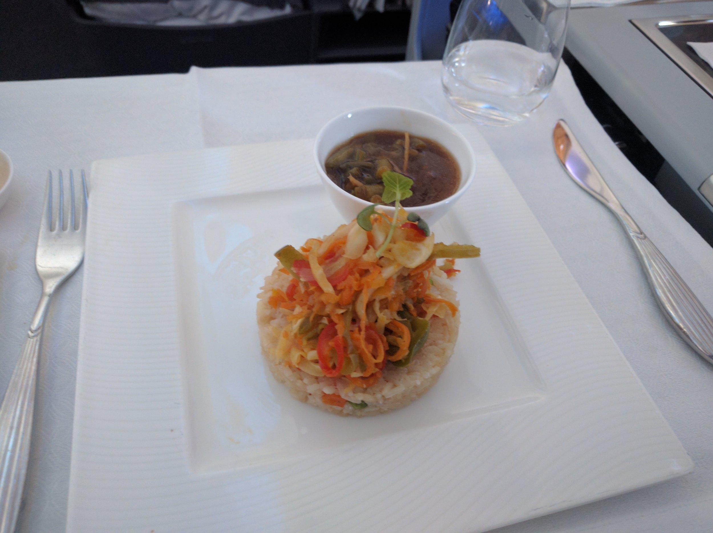 Qatar Business Class Vegan Meal