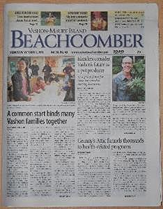 A fabulous exposé on VIMEA appeared in the October 2nd. 2013 issue of The Beachcomber newspaper on Vashon Island.